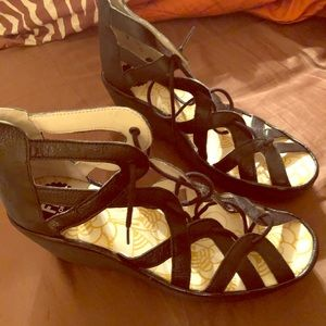 Fly London Black Sandals Size 41 (brand new)